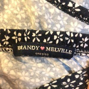 Brandy Melville Dresses - Brandy Melville Blue and White Flower Dress